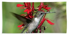 Female Ruby-throated Hummingbird Dsb0325 Hand Towel