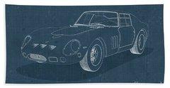 Ferrari 250 Gto - Blueprint Bath Towel