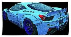 Ferrari 458 Liberty Walk Bath Towel