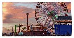 Ferris Wheel On The Pier - Square Bath Towel