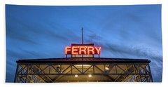 Ferry Terminal At Dusk, Jack London Bath Towel