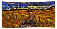 Bath Towel featuring the painting Fields Of Gold by Harry Warrick