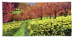 Fields Of Golden Daffodils Hand Towel