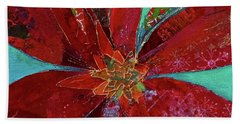 Bath Towel featuring the painting Fiery Bromeliad I by Shadia Derbyshire
