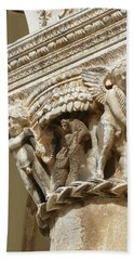 Figures On Capitals Of The Rector's Palace Hand Towel