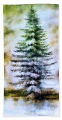 Fir Tree In Winter  Bath Towel