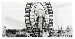 First Ferris Wheel - Chicago Worlds Fair 1893 Bath Towel