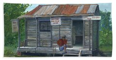 Fish Store, Natchitoches Parish, Louisiana Bath Towel