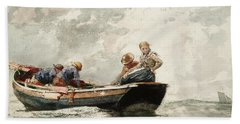 Fisher Folk In A Dory, 1881 Hand Towel