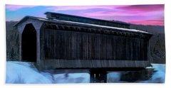 Fisher Raiilroad Covered Bridge Wolcott Vermont. Hand Towel