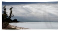 Fishermans Island Michigan Bath Towel