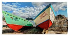 Fishing Boats In Frenchtown Hand Towel