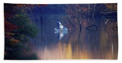 Hand Towel featuring the photograph Fishing In The Fall by Mike Murdock