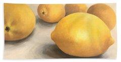 Five Lemons  Bath Towel