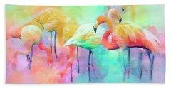 Flamingo Rainbow Bath Towel