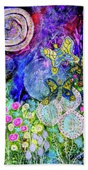 Flight Of The Lunar Moths Hand Towel