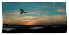 Flight To The Lake Hand Towel