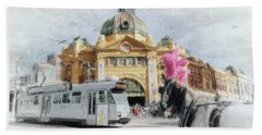 Flinders Street Station, Melbourne Bath Towel