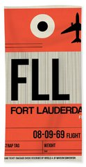 Fll Fort Lauderdale Luggage Tag I Bath Towel