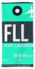 Fll Fort Lauderdale Luggage Tag II Bath Towel