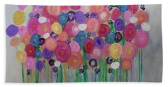 Floral Balloon Bouquet Bath Towel
