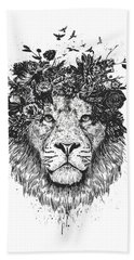Floral Lion Bath Towel