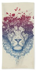 Floral Lion IIi Bath Towel