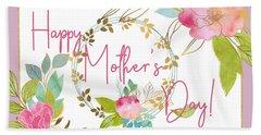 Floral Mother's Day Art Bath Towel