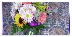 Flower Bouquet  Bath Towel