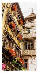 Flower Boxes Strasbourg Bath Towel