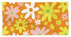 Flower Power Pattern Hand Towel