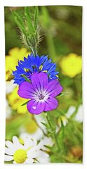 Flowers In The Meadow. Hand Towel