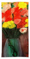 Flowers Still Life Hand Towel