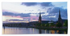 Flowing Down The River Ness Hand Towel
