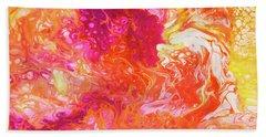 Fluid Hibiscus Hand Towel