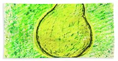 Fluorescent Pear Hand Towel