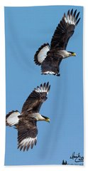 Flying Caracaras Bath Towel