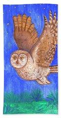 Flying Owl Bath Towel