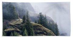 Foggy On Saddle Mountain Hand Towel