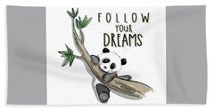 Follow Your Dreams - Baby Room Nursery Art Poster Print Hand Towel
