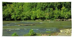 Bath Towel featuring the photograph Forest At Cumberland River by Angela Murdock