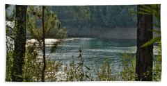 Forest Lake In Amendoa Hand Towel
