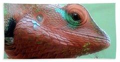 Forest Lizard  Sri Lanka Bath Towel