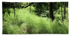 Forest Still Life With A Horsetail Bath Towel