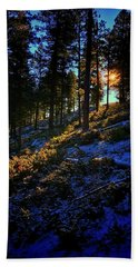 Bath Towel featuring the photograph Forest Sunrise by Dan Miller