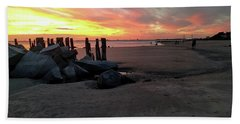 Fort Moultrie Sunset Hand Towel