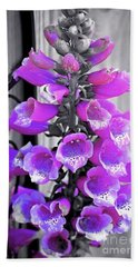 Bath Towel featuring the photograph Foxglove by Patti Whitten