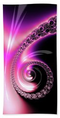 Bath Towel featuring the photograph Fractal Spiral Pink Purple And Black by Matthias Hauser