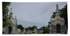 Framed In The Cemetery Hand Towel