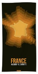France Radiant Map 3 Hand Towel